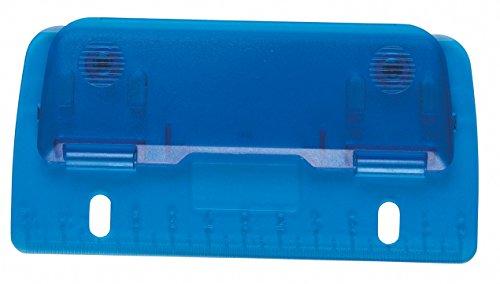 Idena 335072 - Taschenlocher, mit 12 cm Skala, mit Abheftlochung für einfaches Abheften, aus Kunststoff, transluzent, farbig sortiert