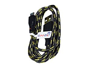 GooDiT Round Fabric Data Cable Data Cable For Lava Iris 405 Q