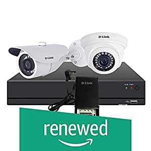 (Renewed) D-Link Basic HD CCTV kit with 1MP Dome Camera + 1MP Bullet Camera + 4CH DVR + 4CH 5AMP SMPS