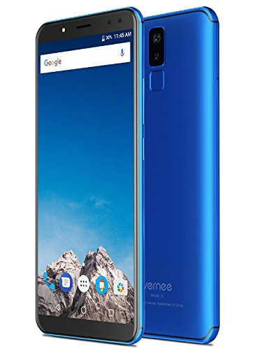 Vernee X - FHD de 5,99 pulgadas (relación 18: 9) Smartphone Android 4G, Octacore de 2,0 GHz 4 GB + 64 GB, batería de 6200 mAh, Cuatro cámaras (13MP + 5MP + 16MP + 5MP), Reconocimiento facial - Azul