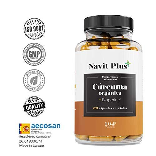 Curcuma biologica 745 mg con BioPerina® Integratore Nº 1 nella Curcuma in capsule. Antiossidante naturale. Curcuma biologica in compresse 100{ea2b061f0d0f4d9f2b92c6c9c91b4a6b790d4cff43d3820c1476a0e5f4c35e7b} naturale.