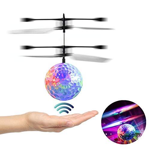 RC Fliegender Ball, Spielzeug, Infrarot-Induktions-Hubschrauber, Drohne mit bunt leuchtendem LED-Licht, Geschenke für Jungen und Mädchen, Indoor-und Outdoor-Spiele