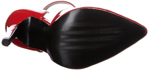 Pleaser Sexy 21, Escarpins femme Rouge (Red Pat)