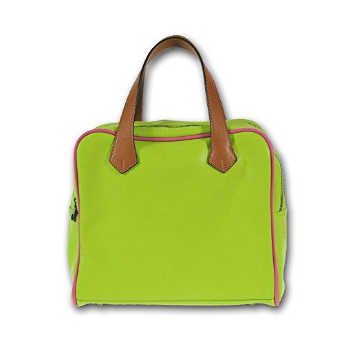 MIYA BLOOM Mode sac à main sac fourre-tout néon vert loisirs en cuir 30x25x16 cm (LxHxP) Vegan