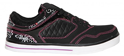 airwalk-skateboard-damen-schuhe-collar-lace-black-pink-sneakers-shoes-schuhgrosse36