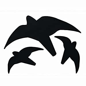 Erdtmanns 511165 Greifvogel-Silhouette, schwarz