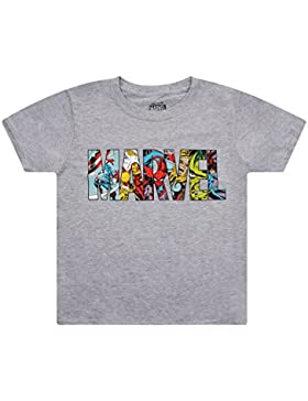 Marvel Logo Characters, Camiseta para Niños