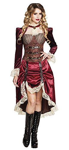 Lady Steampunk Damen-Kostüm viktorianisches Kleid , Größe:36/38