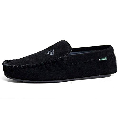 Dunlop Luke, Herren Pantoffeln/Mokassins, Schwarz - Schwarz/Schwarz - Größe: 44