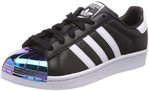Schuhe Adidas-basketball-superstar (adidas Damen Superstar Metal Toe Basketballschuhe, Mehrfarbig (Cblackftwwhtsupcol), 40 EU)