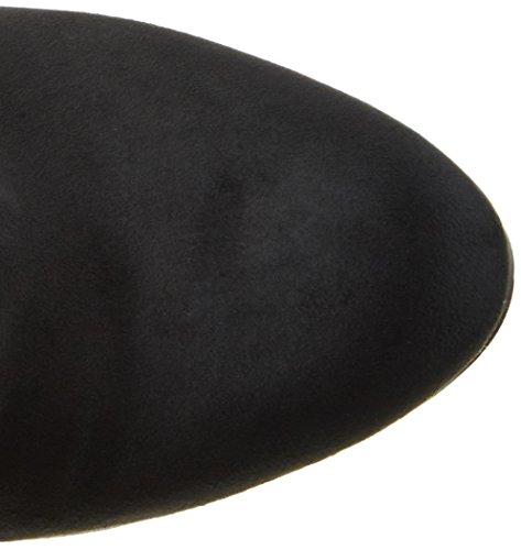 Buffalo London Damen 2860 Micro Strech Langschaft Stiefel Schwarz (Negro 01)