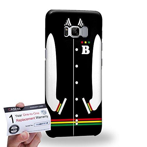 (Case88 [Samsung Galaxy S8] 3D Hülle / Schutzhülle & Garantiekarte - Art Sports Black Baseball Jersey 1984)