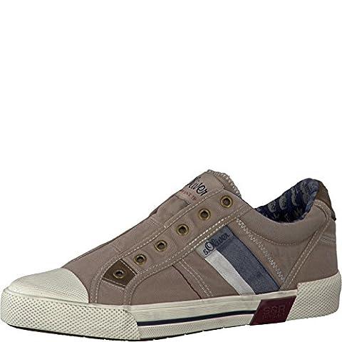 s.Oliver Herrenschuhe 5-5-14600-28 Modischer Herren Freizeitschuh, Sneaker, Schlupfsneaker, Textilschuh, Sommerschuh ohne Schnürung beige (SAND), EU