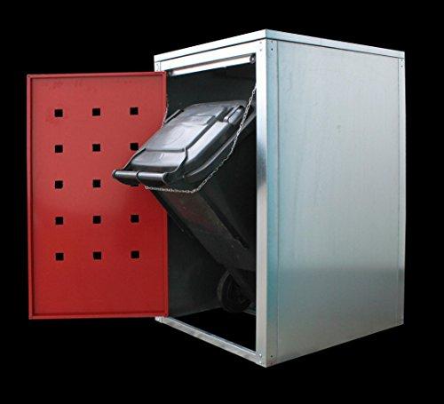 Geiger Mülltonnenbox Metall 120l Color Rubinrot - 3