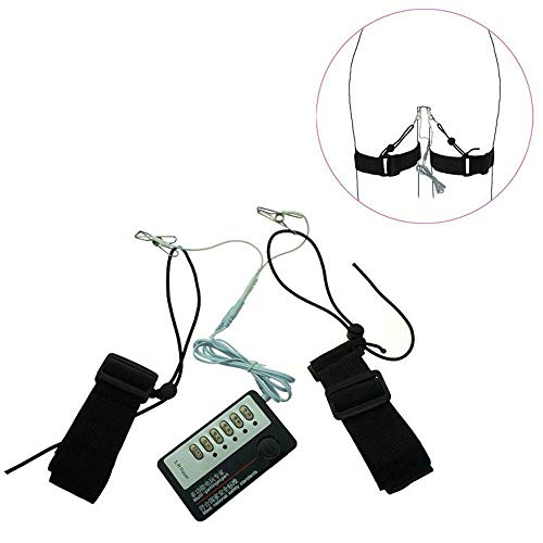 Elektrostimulation Sex Set, E-stim Massagegerä Klitoris, G-Punkt, Vagina, Nippel, Brust, Clamp Nippelklemmen für Tragbar Stimulator, Folter SM Sexspielzeug