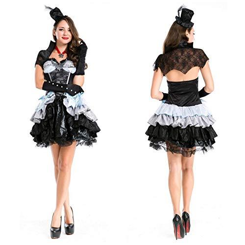 tüm,Halloween Hexenkostüm DS Halsband Tanz Teufel Geladen Halloween Spiel Uniform Versuchung Königin Pettiskirt, Wie Gezeigt, U ()