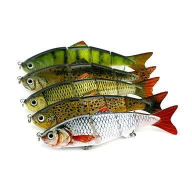 Ztmn 5 pezzi jerkbaits minnow esca dura colori assortiti g/oncia mm pollici, plastica dura pesca esca casting spinning pesca in acqua dolce
