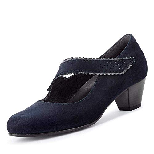 Gabor Palma 36.148.26 - Scarpe décolleté da Donna, Misura Grande, Colore: Blu, Argento (Blu), 41 EU