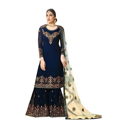 966a3dc3c8bf ETHNIC EMPORIUM Designer Abito da Sposa Musulmano Pakistano Plazzo Salwar  Party Wear Dress 786 Indian Women