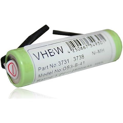 vhbw Batería 2500mAh cepillo de dientes Braun Oral- B Profess. Care 8000, 8300, 8500, 9500, Triumph 4000, 5000, 9000, 9400, 9500, 9900 y