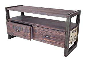 industrie design sideboard massiv holz beistelltisch metall optik loft m bel 112x56x40 cm. Black Bedroom Furniture Sets. Home Design Ideas