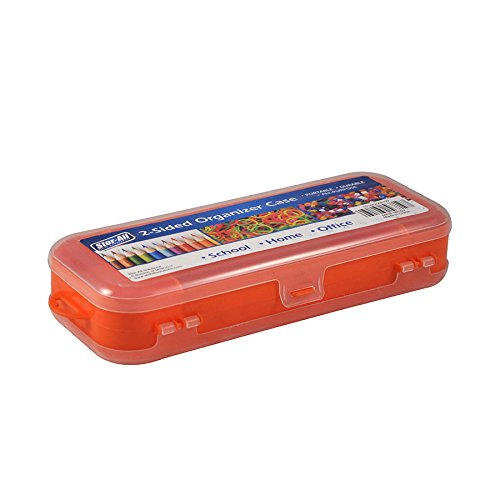 Stor-All Solutions Portable Utility Boxes 2 Sided Organizer Case Small Orange (Utility-organizer-box)