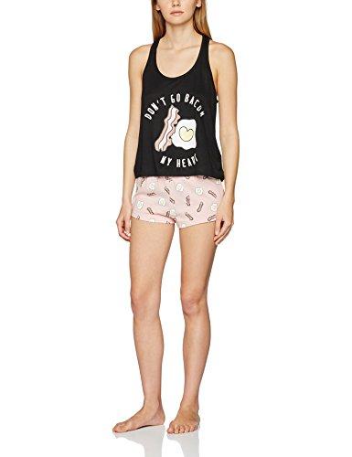 New Look Women's Bacon My Heart Pyjama Sets - 41CVnM5YcdL - New Look Women's Bacon My Heart Pyjama Sets
