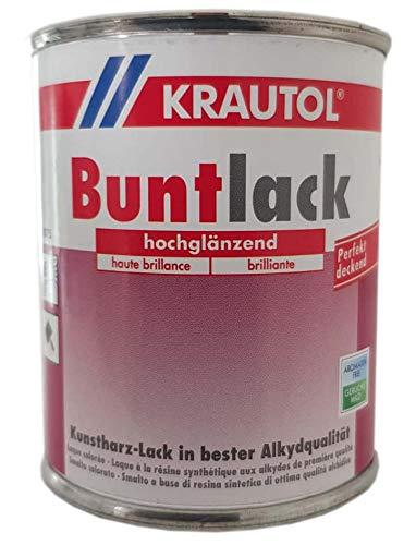 Krautol Buntlack Kunstharz Lösemittelhaltig Buntlack Hochglänzend 375 ml Farbwahl, Farbe (RAL):RAL 0096 Altweiß