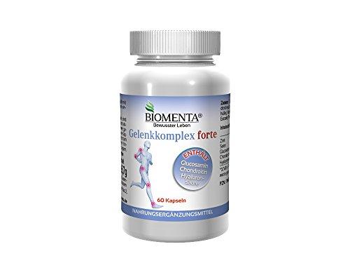 BIOMENTA GELENKKOMPLEX FORTE – mit GLUCOSAMIN + CHONDROITIN + HYALURONSÄURE bei Gelenkschmerzen (Gelenkschutz) – 60 Gelenkkapseln