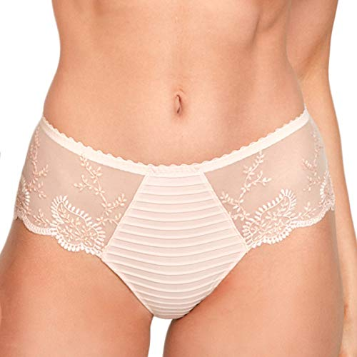 Louisa Bracq 41940 Women's Elise Rose Nude Beige Embroidered Lace Boyshort 40 (Rose Lace Boyshort)