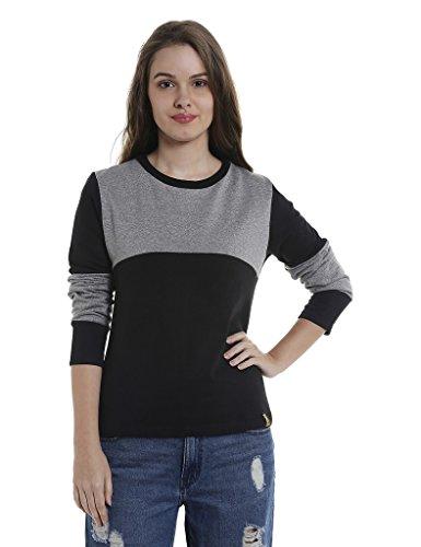 Campus Sutra Women's Plain Sweatshirt (AZW17_H2C_W_PLN_GRBL_AZ_M)