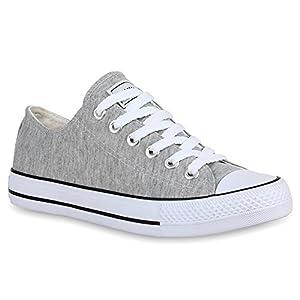 Stiefelparadies Unisex Damen Herren Sneaker Low Übergrößen Flandell