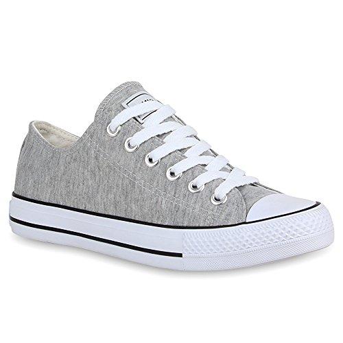 Stiefelparadies Unisex Damen Herren Sneakers Sportschuhe Schnürer Schuhe 24762 Hellgrau Ambler 41 Flandell