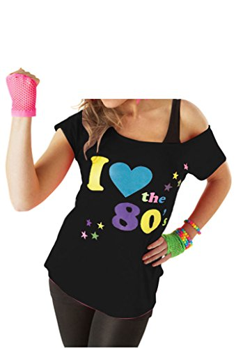 Ladies I Love 80s T-shirt Womens Pop Star
