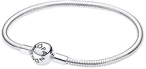 Pandora Damen-Armband mit Kugelverschluss, glatt 925 Silber 18 cm-590728-18
