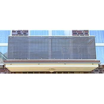 Balkonverkleidung Smart Deko Grau/&Wei/ß 2x0,9m Balkonsichtschutz Windschutz Sichtschutz und UV-Schutz f/ür Balkon Gartenanlagen 78827 Camping und Freizeit