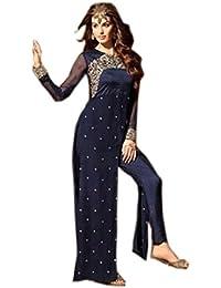 Special Mega Sale Festival Offer C&H Blue Georgette Designer Semi-Stitched Anarkali Suits