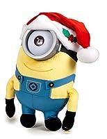 Minions peluche di Natale con cappello rosso di Babbo Natale–Occhi in Plastica–morbidissimo–28cm–Edizione Speciale Natale Minions, Cattivissimo Me