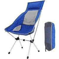 U-Homeweee Campingstuhl, Aluminium Camping Faltstuhl ultraleichter Angelstuhl mit Tragetasche klappbar campingstuhl für Rucksackreisen, Wandern(120 kg Gewichtslimit)