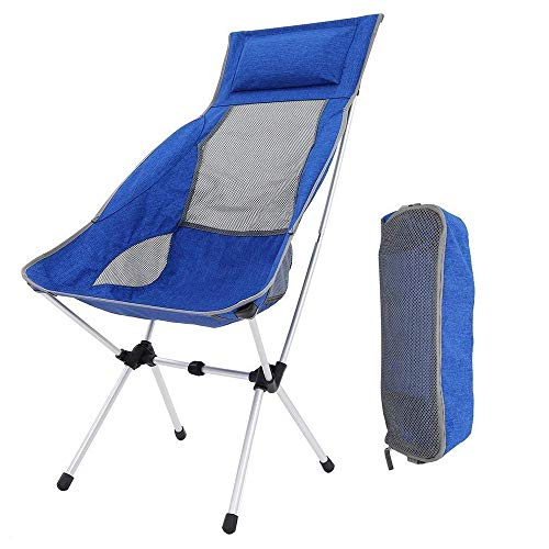 Enjoyable U Home Chaise Pliante Camping Ultra Leger Aluminium Chaise Camping Pour Pique Nique Randonnee Peche Grill Plage Avec Sac De Transport Bleu Dailytribune Chair Design For Home Dailytribuneorg
