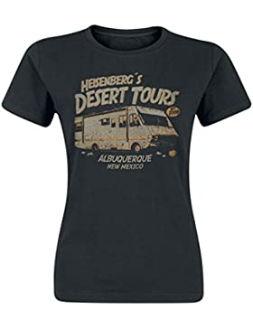 Breaking Bad Desert Tours Camiseta Mujer Negro