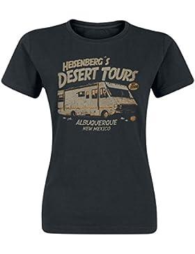 Breaking Bad Desert Tours Camiseta Mujer Negro