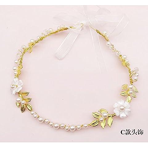 La rosa foglia oro sposa abito da sposa ornamenti di testa festa raduni Halloween ,41cm,3,41cm natale
