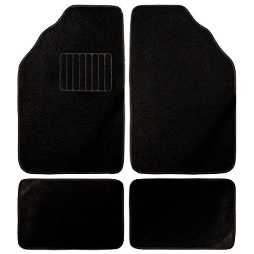 BC Corona GOM001012 - Alfombra Moqueta Clasic 4 Piezas, Color Negro