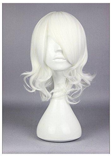 okyo Ghoul JUZO SUZUYA, REI White Hair Medium Curly 40cm Anime Cosplay Wigs ()