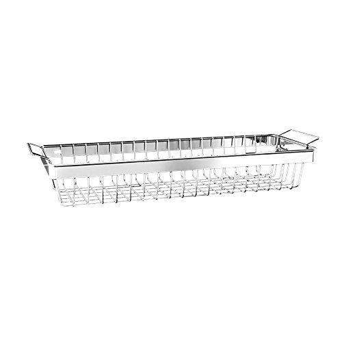 TYSM Regale Edelstahl-Küchenregal, Hochleistungs-Geschirrständer, Mit Belastung 40 kg (Silber) (größe : Vegetable Basket)