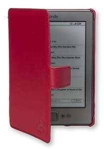 Die original GeckoCovers Slimfit (extra flache Hartschalenhülle) Amazon Kindle 4 Hülle für den AMAZON 4 Ereader 2011/2012 für nun 79 Euro Cover (für 15 cm/6 Zoll Display) Hartschalenetui Cover Case in der Farbe rot / red - Im praktischen Buchstyle!