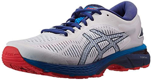 ASICS Men's Gel-Kayano 25 White/Blue Print Running Shoes - 10 UK/India (45 EU)(11 US)(1011A019.100)