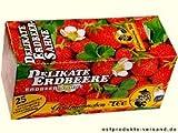 Erdbeer Sahne Tee Goldmännchen | INKL DDR Geschenkkarte | Ossi Artikel | Ideal für jedes DDR Geschenkset | DDR Traditionsprodukt und Ossi Kultprodukt | Ossi Produkte
