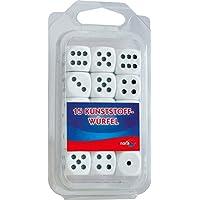 Noris-Spiele-606154361-15-weie-Kunststoff-Augenwrfel Noris 606154361, 15 weiße Kunststoff Augenwürfel -
